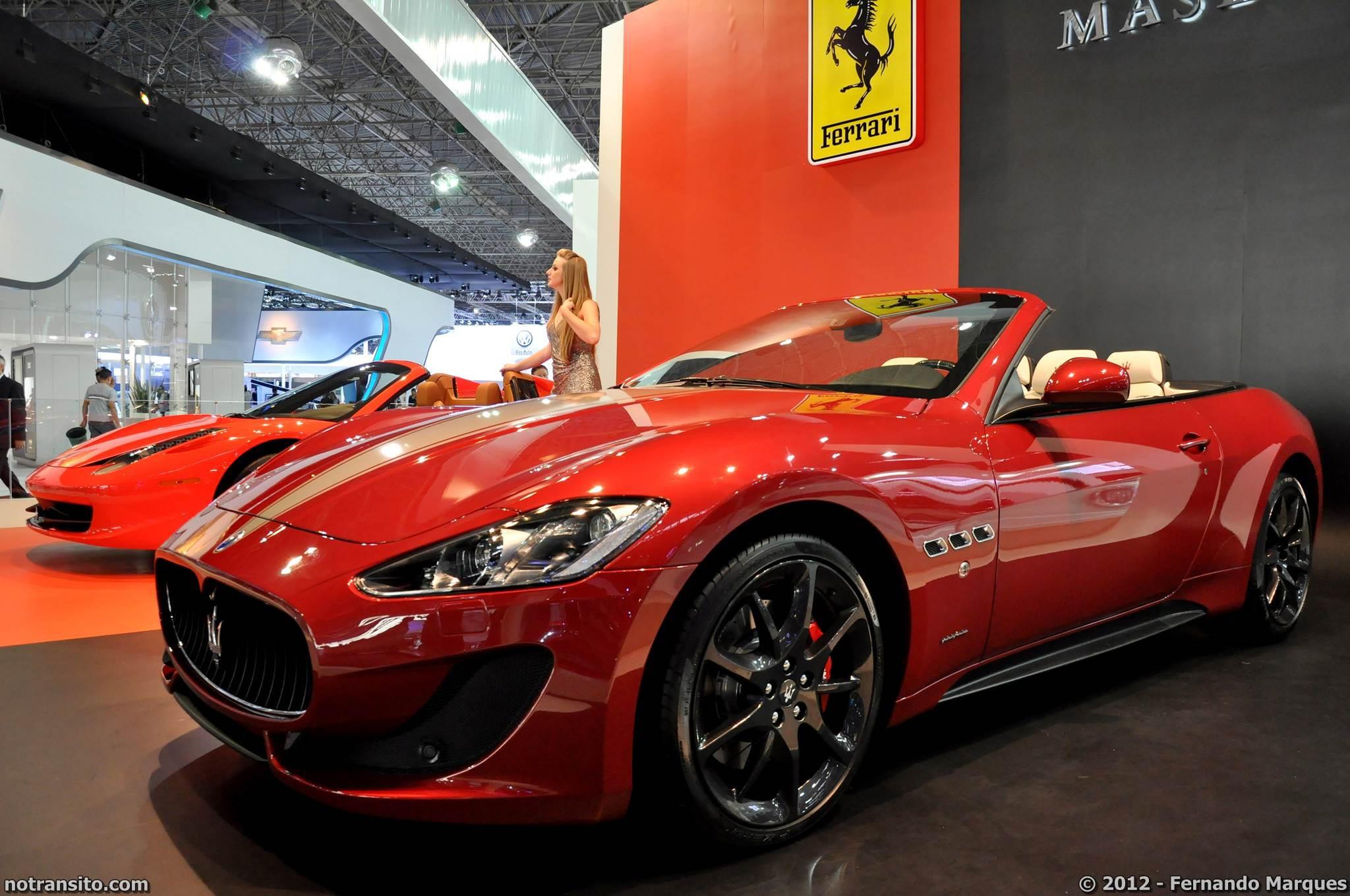 Salão do Automóvel de São Paulo 2012, 27º Salão do Automóvel de São Paulo, Ferrari 458 Spider, Maserati GranCabrio Sport