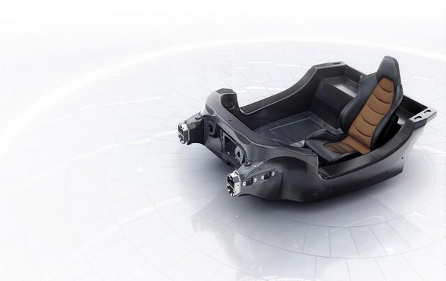 Carbon MonoCell: estrutura do carro é composta de uma única peça em fibra de carbono.