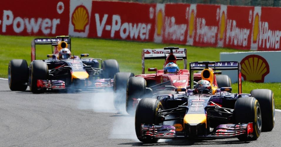 Belas disputas foram possíveis pela melhoria da Ferrari e da Red Bull.