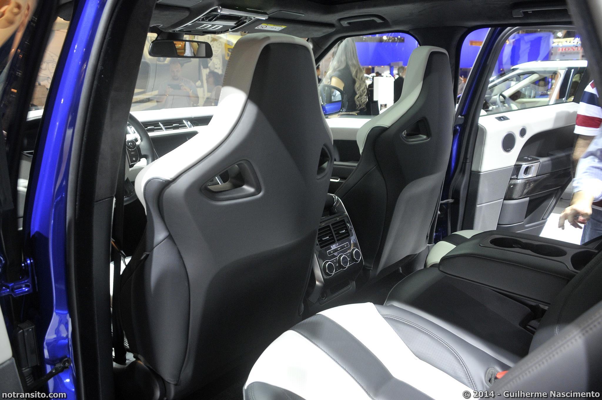 Salão do Automóvel de São Paulo 2014, 28º Salão do Automóvel de São Paulo, Range Rover Sport SVR, Special Vehicle Operations, SVO, Estoril Blue
