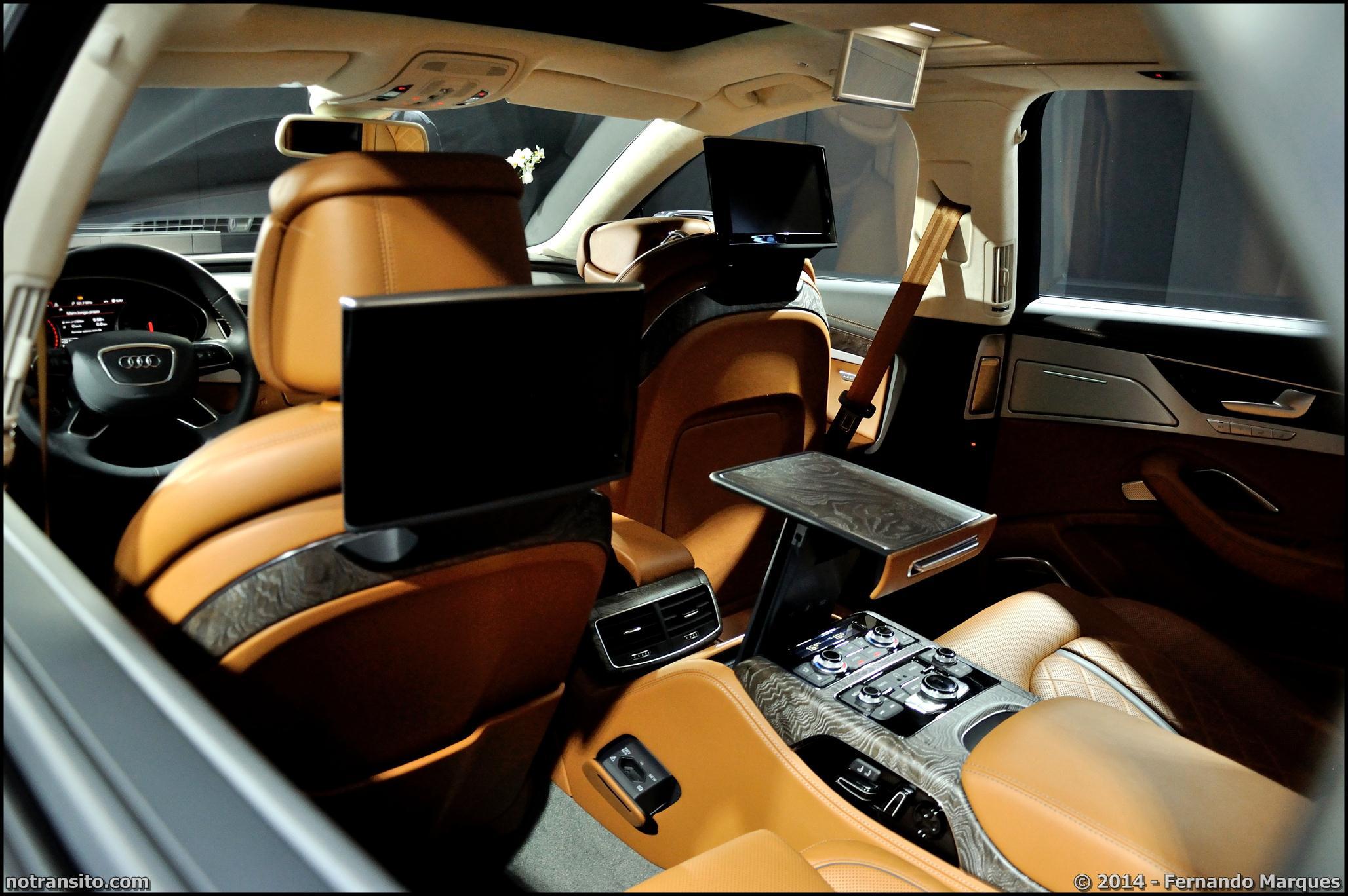 Audi A8 L W12 Exclusive Concept, Salão do Automóvel 2014, agatha cognac, poltrona frau