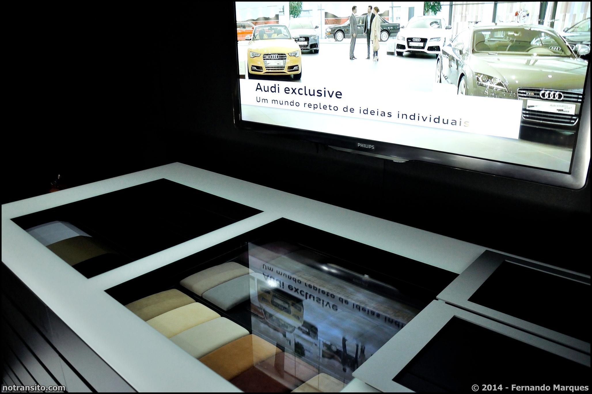 Audi A8 L W12 Exclusive Concept, Salão do Automóvel 2014, Audi Exclusive display