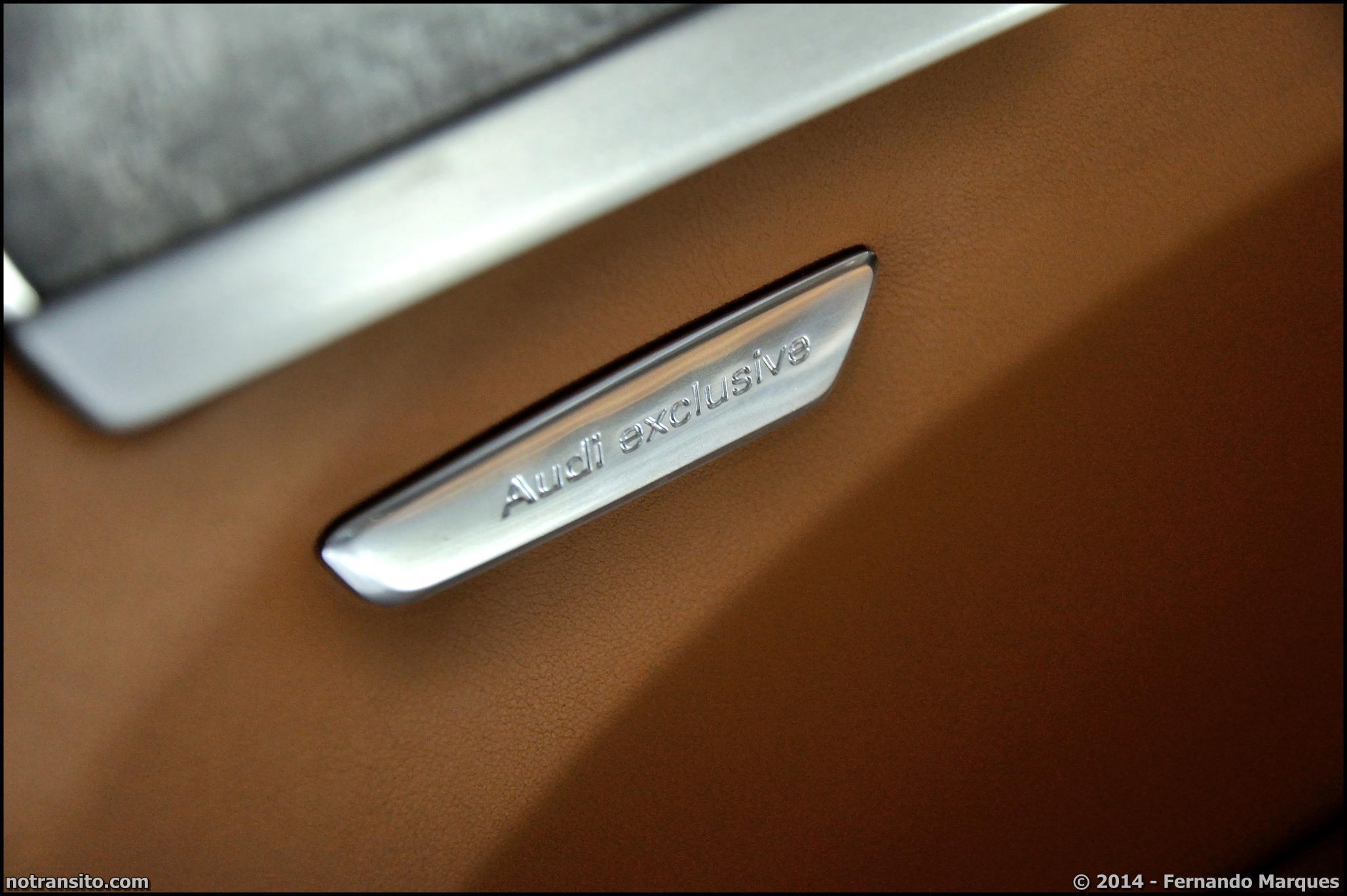 Audi A8 L W12 Exclusive Concept, Salão do Automóvel 2014, Audi Exclusive badge