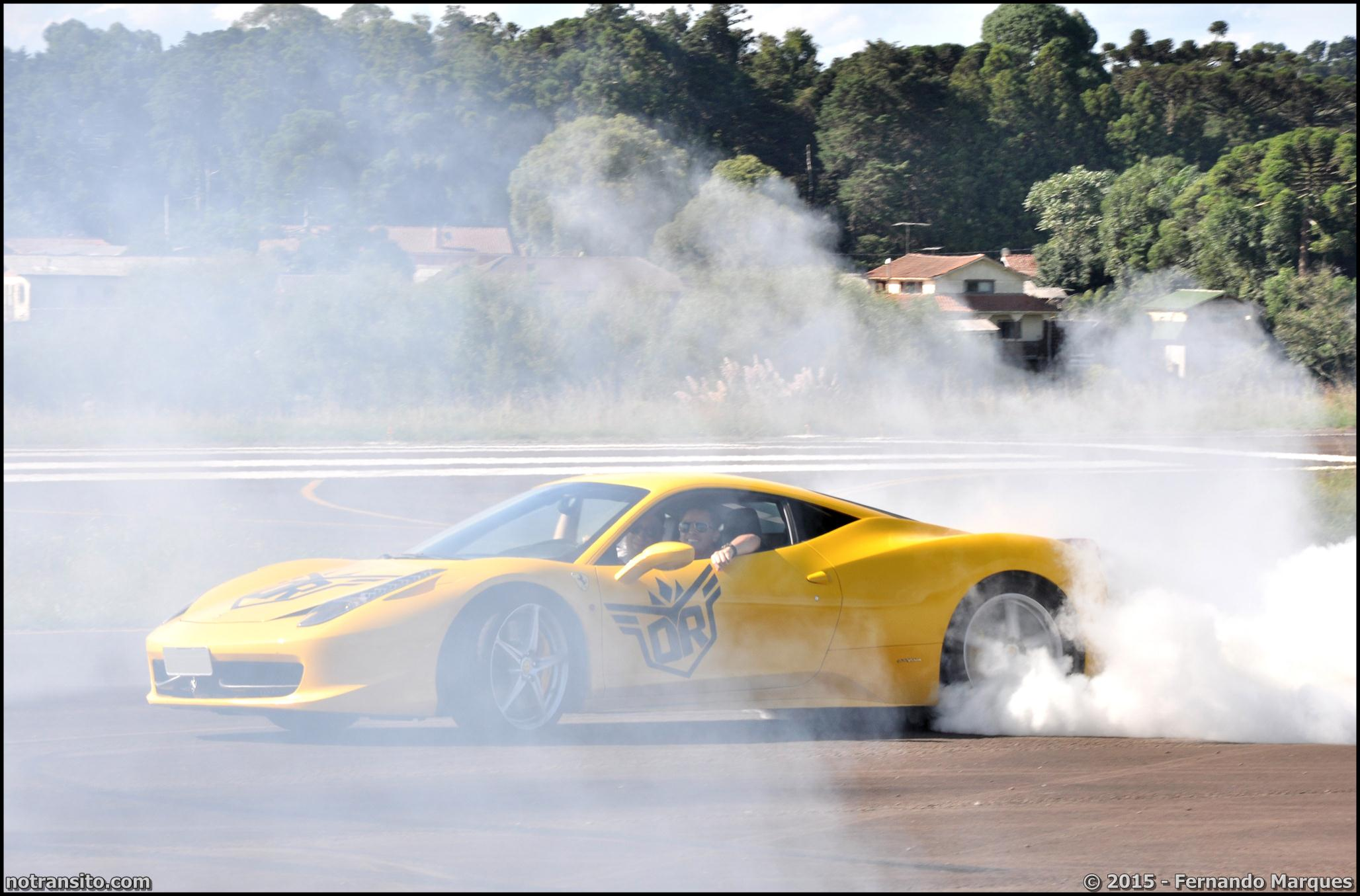 Dream Route, Ferrari 458 Italia Burnout Donuts