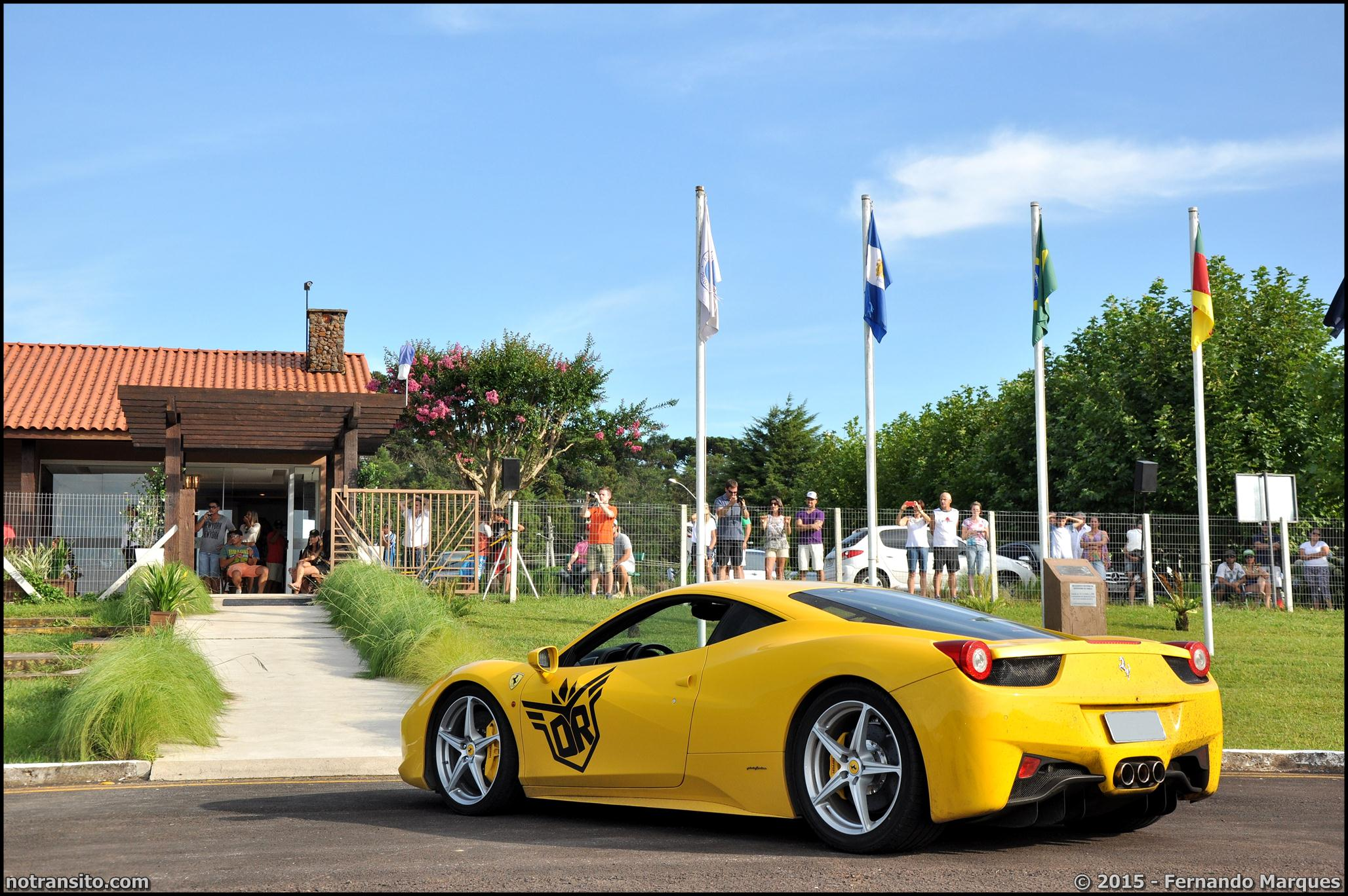 Dream Route, Ferrari 458 Italia Yellow