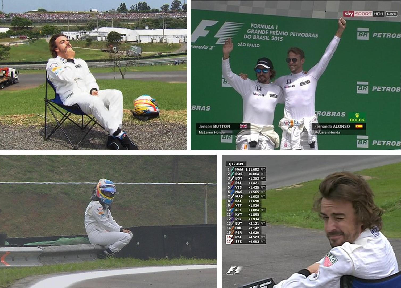 """Os pilotos da McLaren assumiram a máxima """"aceita que dói menos""""."""