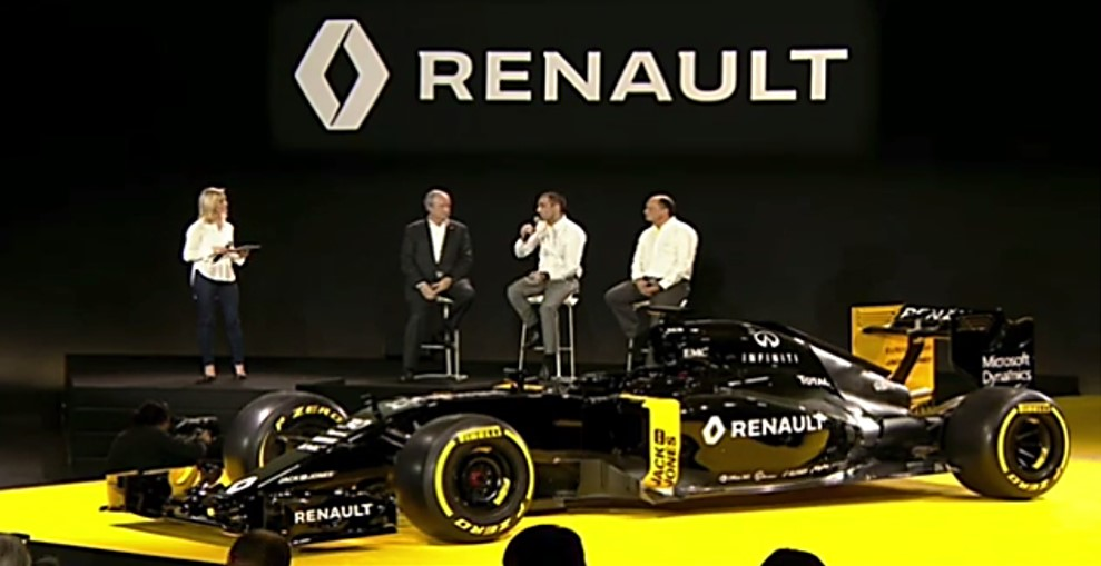 Agora é Renault o carro negro da Fórmula 1. Bonito, mas não tão rápido.