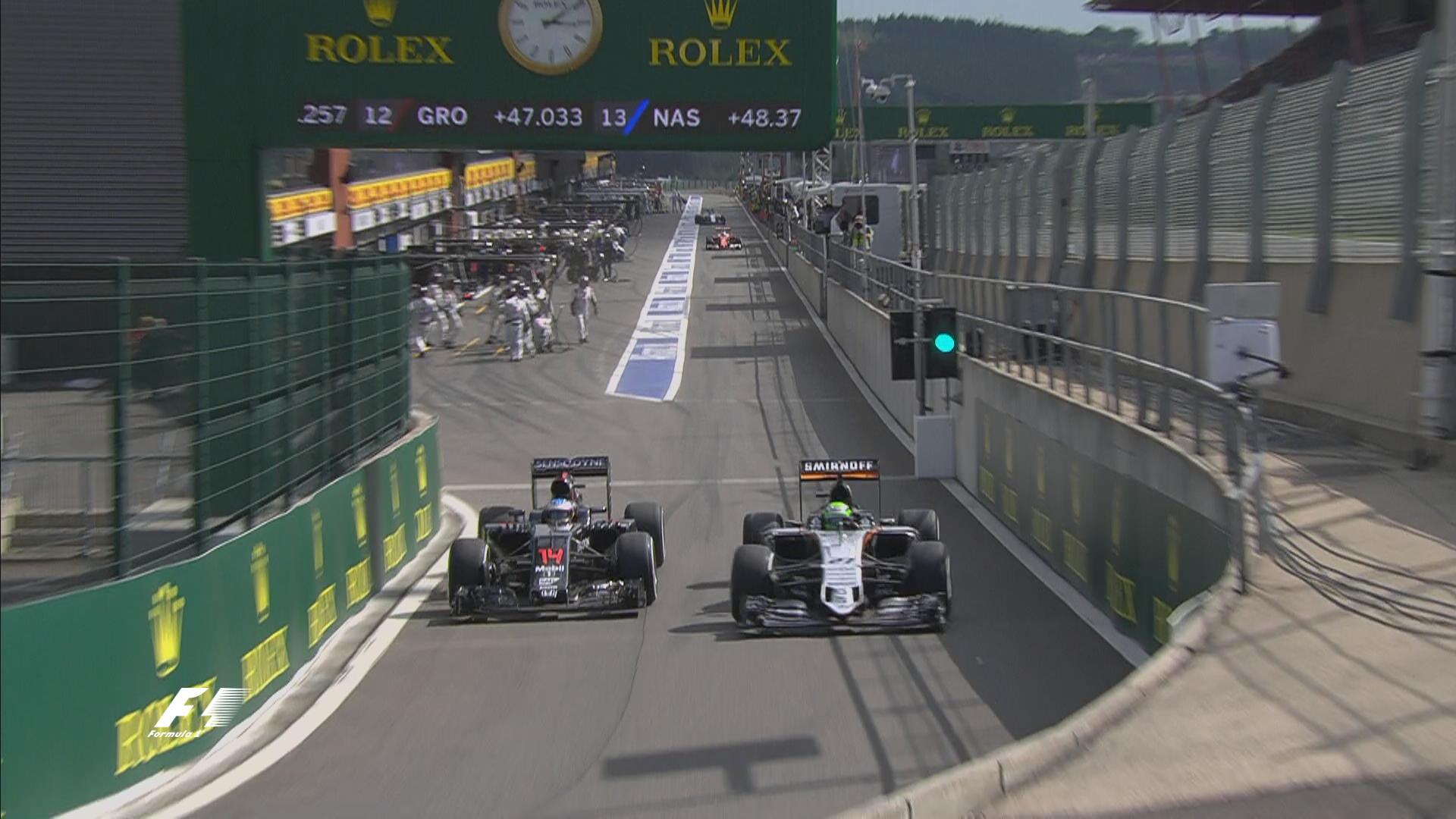 Disputado até nos boxes, Alonso e Hülkenberg fizeram ótimas corridas.