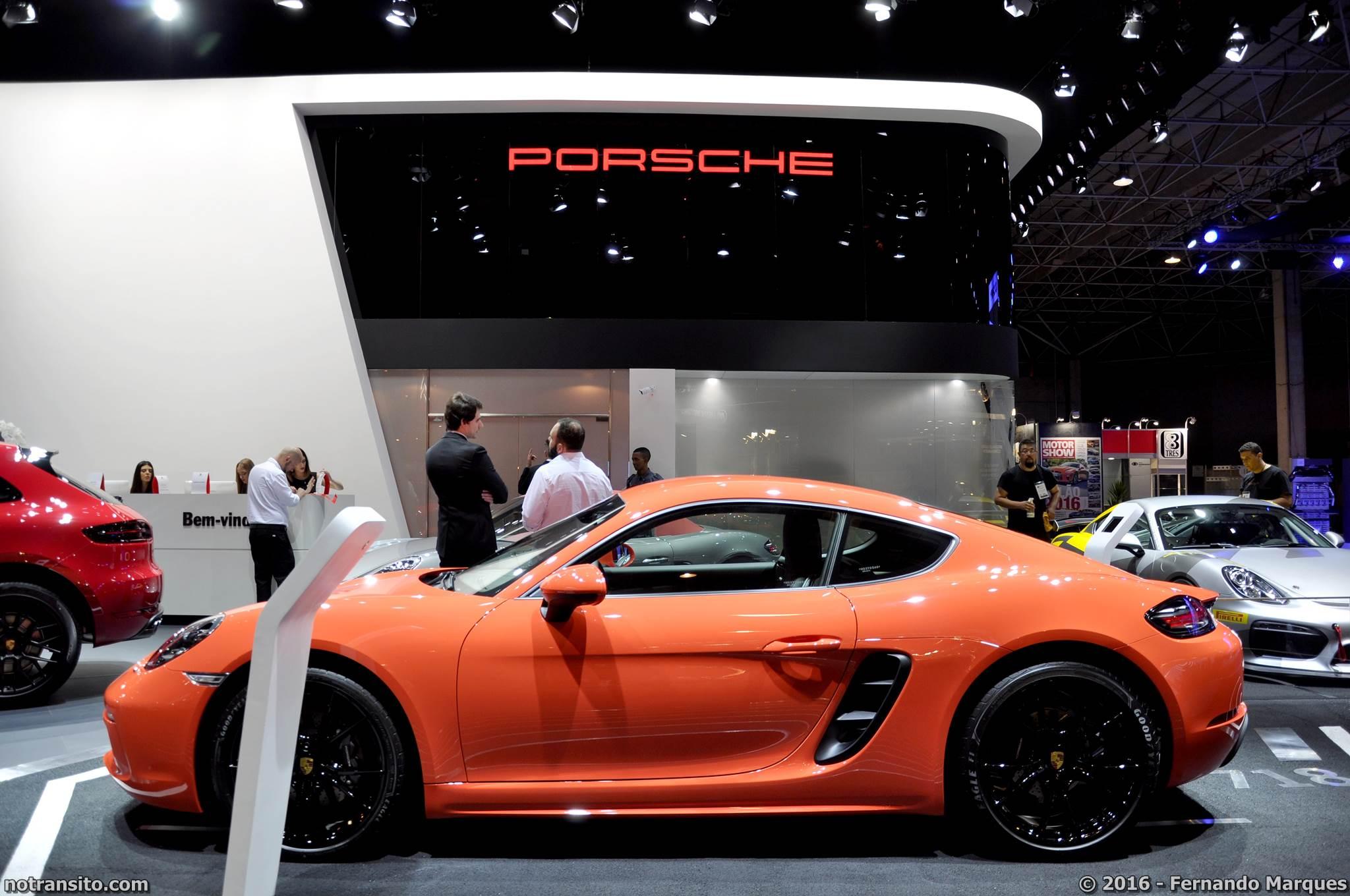 Porsche 718 Cayman Laranja Lava, Salão do Automóvel 2016, 29º Salão do Automóvel de São Paulo