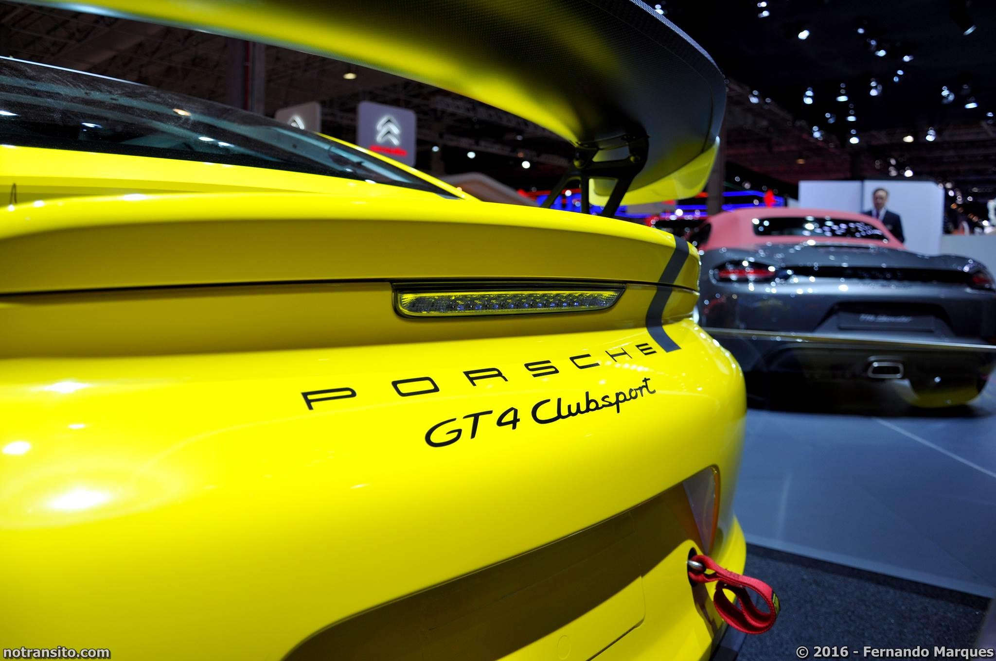 Porsche Cayman GT4 Clubsport Salão do Automóvel 2016
