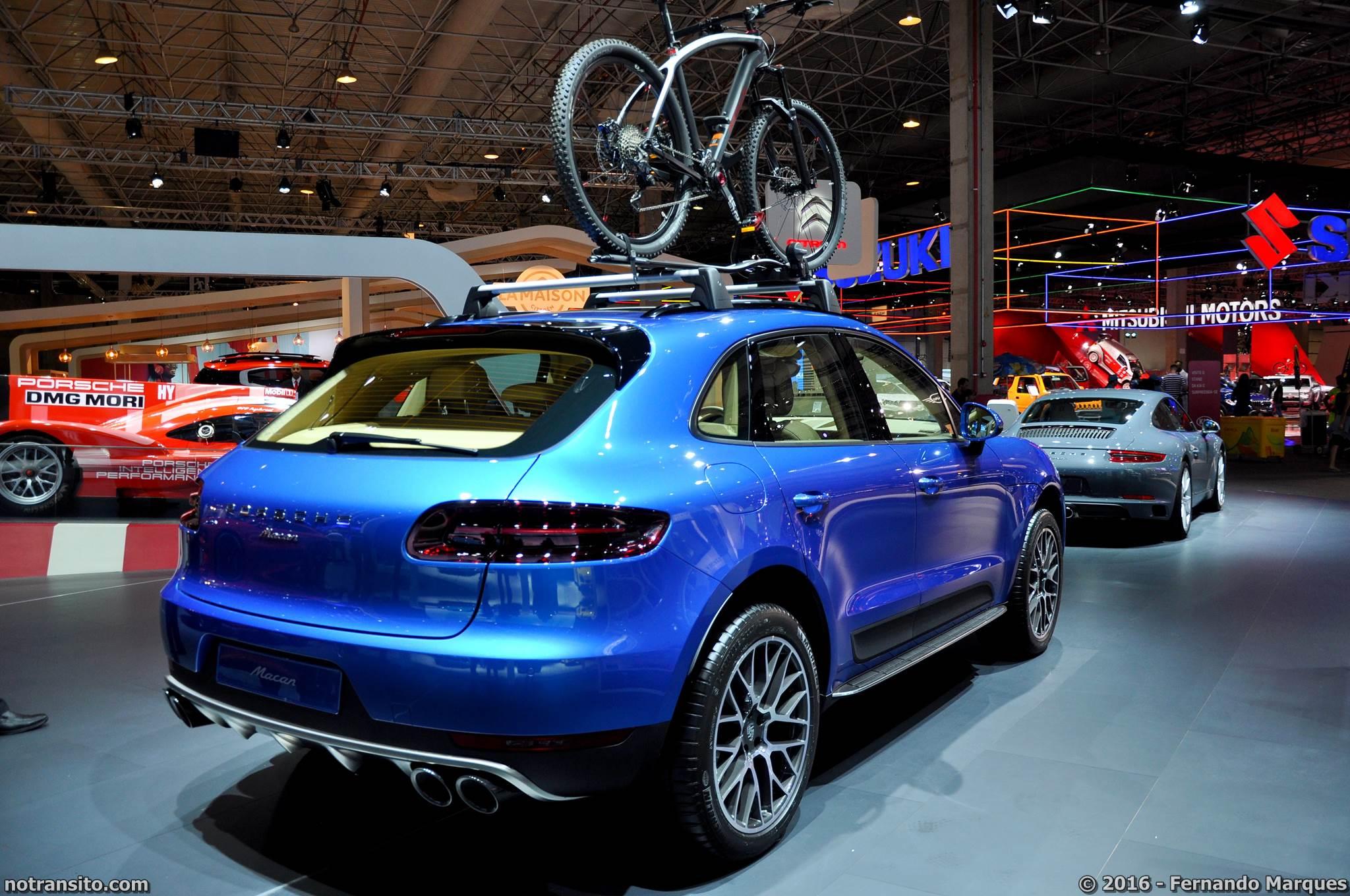 Porsche Macan S Sapphire Blue Metallic Salão do Automóvel 2016
