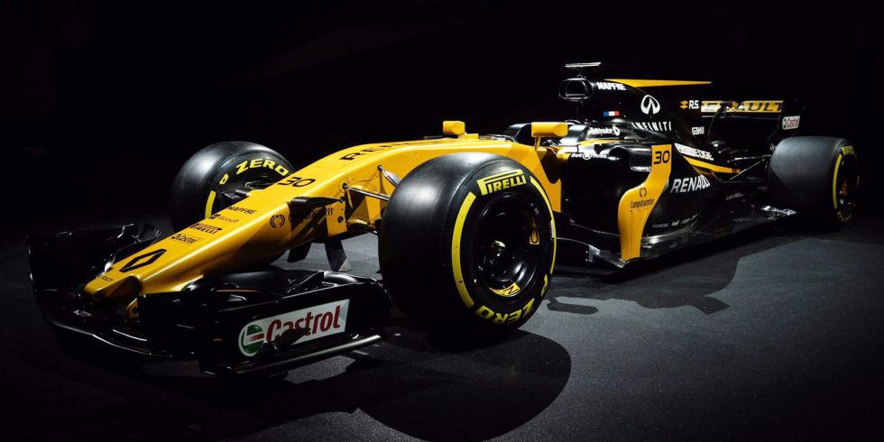 A Renault escureceu um pouco mais o carro em relação ao ano passado, mas não quer que a coisa fique mais preta por isso.