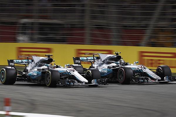 Bottas facilitou tanto a ultrapassagem de Hamilton que o inglês quase tomou um susto.