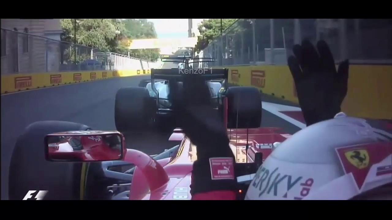 Primeiro Vettel encostou na traseira do carro de Hamilton, que parecia ter freado além da conta...