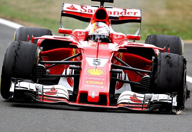Ficou no osso os compostos de Vettel no final da corrida. Um deles sucumbiu.