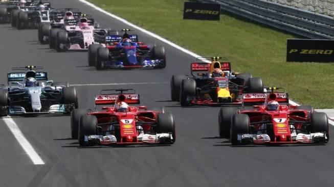 Largando na frente para na frente chegarem. Só deu Ferrari na Hungria.