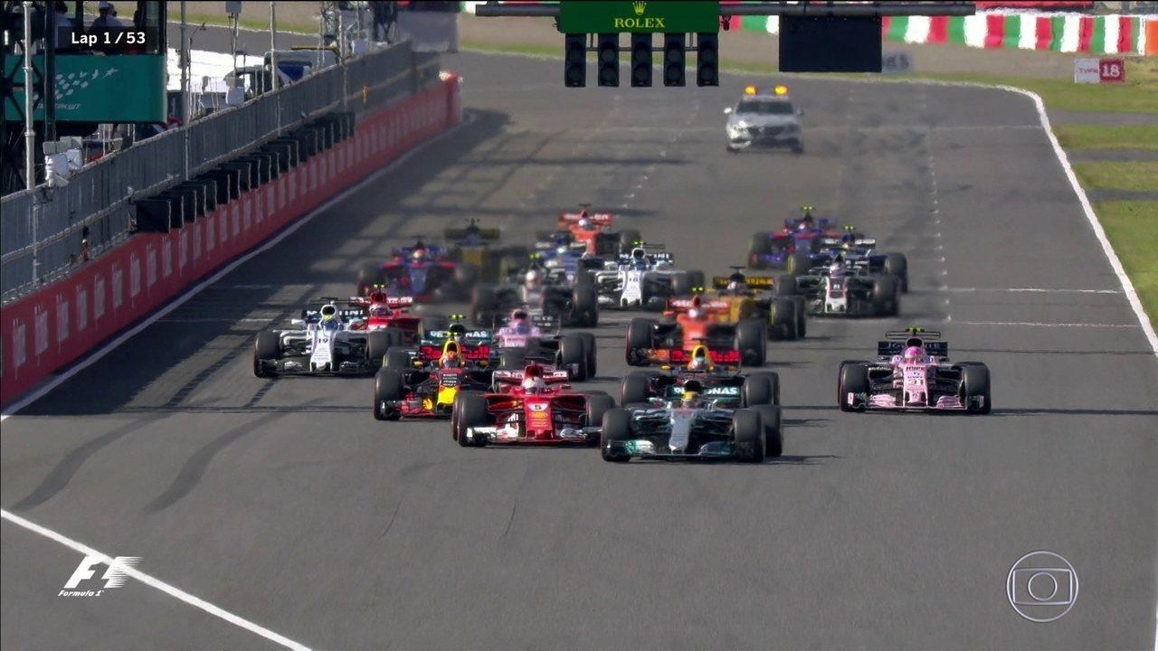 Hamilton não deu mole e foi embora. Vettel também, mas pra casa.