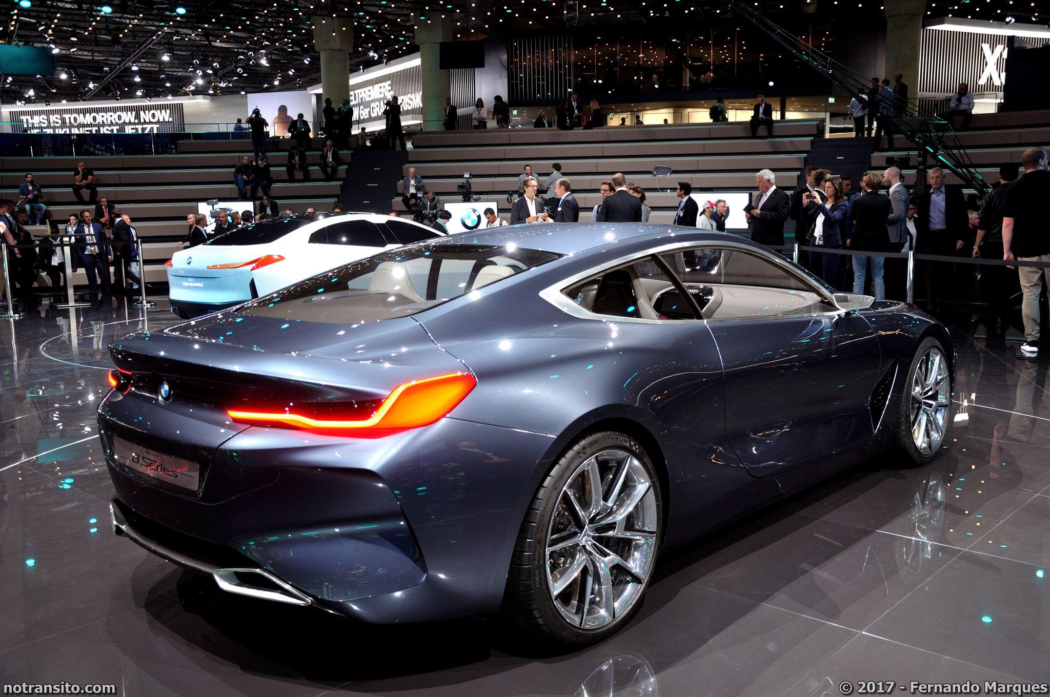 BMW 8-Series Concept no Salão de Frankfurt 2017.  Foto: Fernando Marques